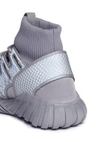 'Tubular Doom Reflections' neoprene lizard effect sock sneaker