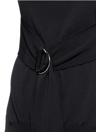 Detail View - Click To Enlarge - ERIKA CAVALLINI - Split side buckle knit top