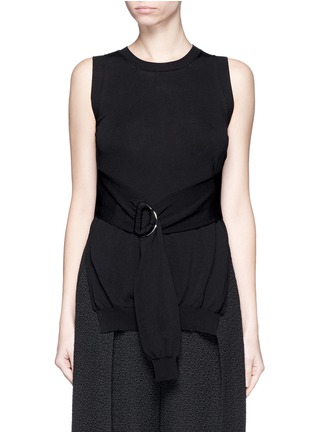 Main View - Click To Enlarge - ERIKA CAVALLINI - Split side buckle knit top