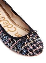'Felicia' metallic bouclé tweed ballet flats