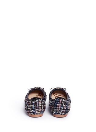 Back View - Click To Enlarge - Sam Edelman - 'Felicia' metallic bouclé tweed ballet flats