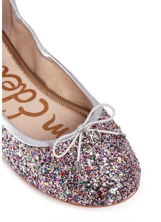 Detail View - Click To Enlarge - Sam Edelman - 'Felicia' glitter ballet flats