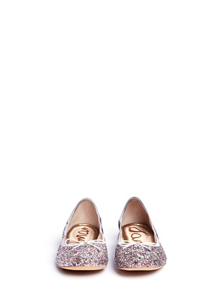 Front View - Click To Enlarge - Sam Edelman - 'Felicia' glitter ballet flats