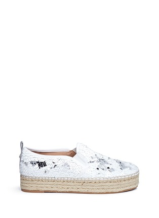 Main View - Click To Enlarge - Sam Edelman - 'Carrin' sequin flatform espadrilles