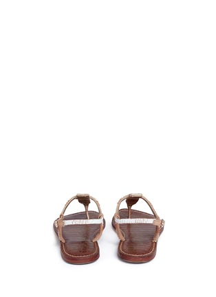 Back View - Click To Enlarge - Sam Edelman - 'Gail' beaded T-strap flat sandals