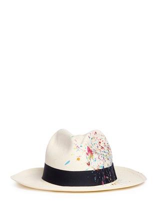 Main View - Click To Enlarge - Sensi Studio - Paint splash Classic Panama hat