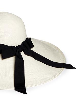 Detail View - Click To Enlarge - Sensi Studio - 'Lady Ibiza' twist band straw capeline hat