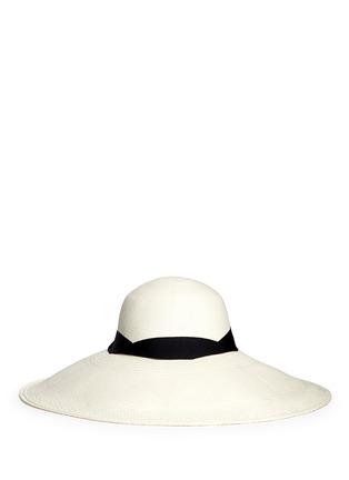 Main View - Click To Enlarge - Sensi Studio - 'Lady Ibiza' twist band straw capeline hat