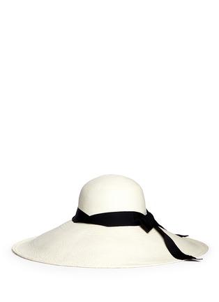 Figure View - Click To Enlarge - Sensi Studio - 'Lady Ibiza' twist band straw capeline hat