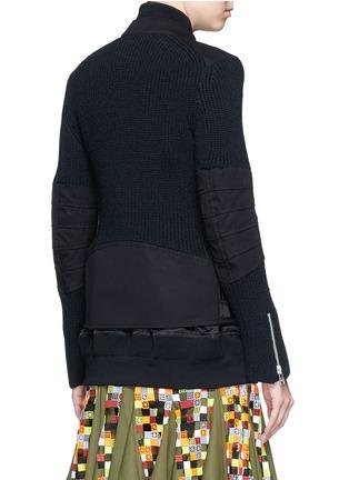 背面 - 点击放大 - SACAI - 双层拼贴针织机车夹克