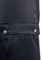 Cinched D-ring strap sandwashed silk jumpsuit