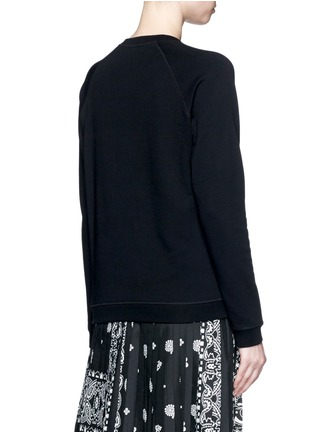 Back View - Click To Enlarge - KENZO - Mesh tiger embroidery cotton sweatshirt