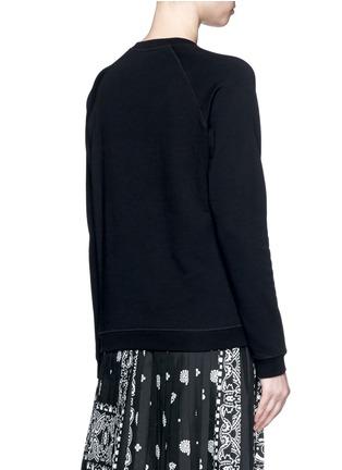 KENZO-Mesh tiger embroidery cotton sweatshirt