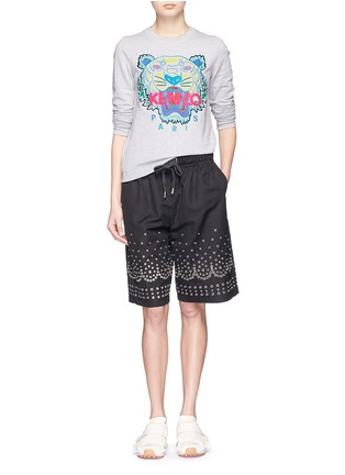 Figure View - Click To Enlarge - KENZO - Tiger embroidery sweatshirt