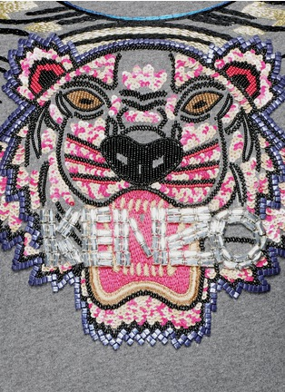 Detail View - Click To Enlarge - KENZO - Beaded tiger embroidery sweatshirt