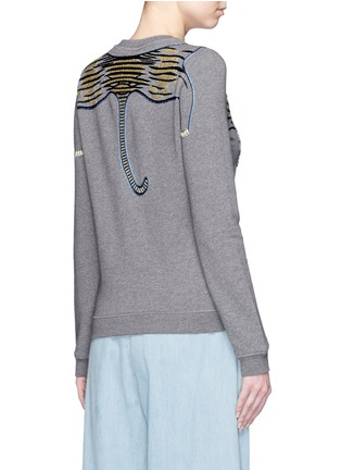 Back View - Click To Enlarge - KENZO - Beaded tiger embroidery sweatshirt