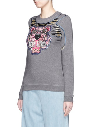 Front View - Click To Enlarge - KENZO - Beaded tiger embroidery sweatshirt