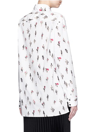 Back View - Click To Enlarge - KENZO - 'Cartoon Cactus' print cotton poplin shirt