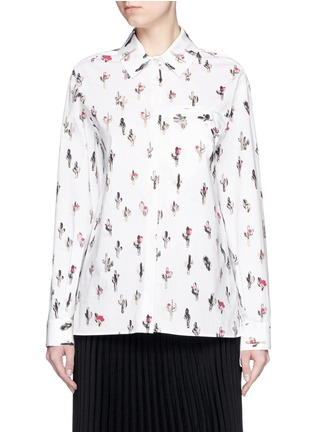 Main View - Click To Enlarge - KENZO - 'Cartoon Cactus' print cotton poplin shirt