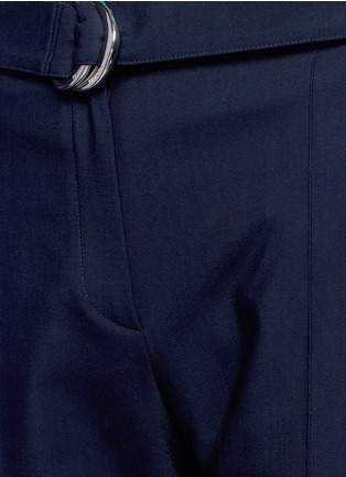 Detail View - Click To Enlarge - KENZO - Belted fluid twill pants