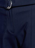 Belted fluid twill pants