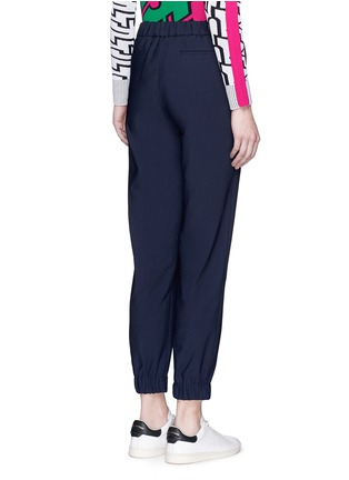 Back View - Click To Enlarge - KENZO - Belted fluid twill pants