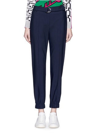Main View - Click To Enlarge - KENZO - Belted fluid twill pants