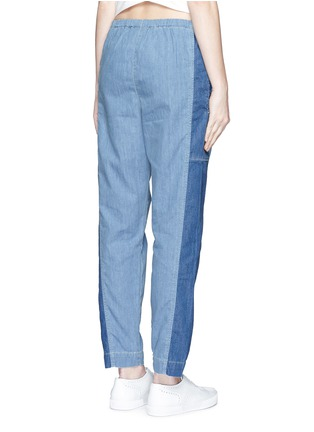 背面 - 点击放大 - KENZO - Colourblock denim elastic sweatpants