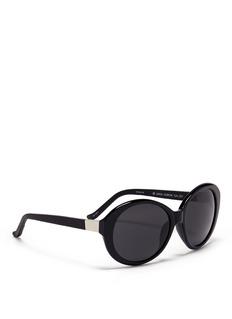 THE ROWx Linda Farrow leather arm sunglasses