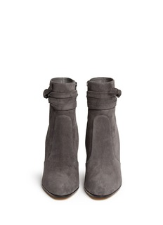 GIANVITO ROSSIRibbon tie suede boots