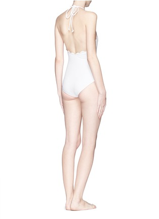 Back View - Click To Enlarge - Marysia - 'Mott' halter scallop maillot swimsuit