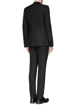 Back View - Click To Enlarge - Givenchy Beauty - Wool blend hopsack suit