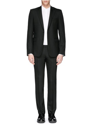 Main View - Click To Enlarge - Givenchy Beauty - Wool blend hopsack suit