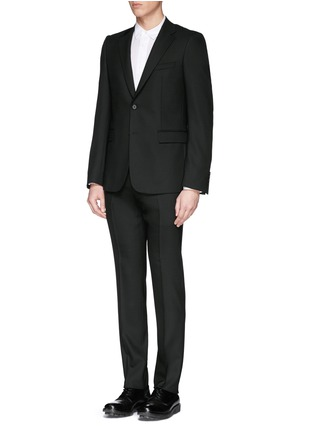 Figure View - Click To Enlarge - Givenchy Beauty - Wool blend hopsack suit
