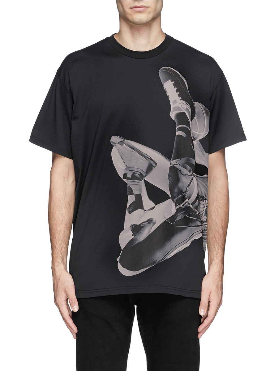 givenchy basketball player print t shirt on sale black short sleeves t shirts menswear. Black Bedroom Furniture Sets. Home Design Ideas