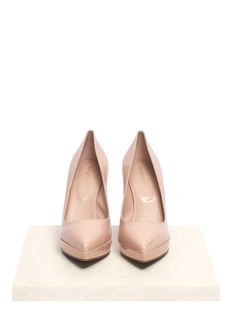 SERGIO ROSSIPointed-toe patent-leather pumps