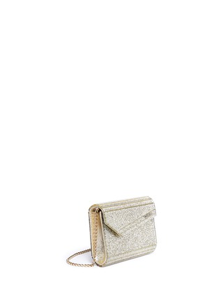 Figure View - Click To Enlarge - Jimmy Choo - Candy glitter acrylic chain clutch