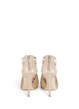 Back View - Click To Enlarge - Jimmy Choo - Crystal and bead embellished mesh booties