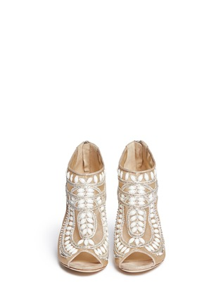 Figure View - Click To Enlarge - Jimmy Choo - Crystal and bead embellished mesh booties