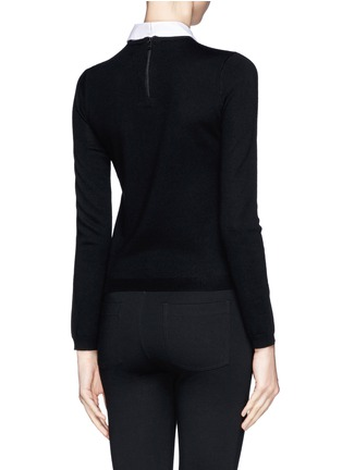 Back View - Click To Enlarge - alice + olivia - Detachable collar bow intarsia sweater