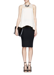 ELIZABETH AND JAMES 'Cannon' sleeveless silk-satin blouse