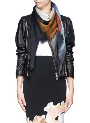 Figure View - Click To Enlarge - Givenchy - Madonna halo print silk-wool scarf