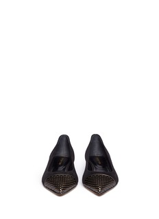 SERGIO ROSSI 'Siren' perforated toe cap suede flats