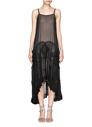 Main View - Click To Enlarge - alice + olivia - Dejas embroidered trapeze dress