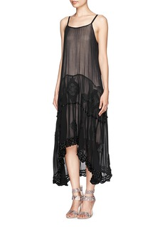ALICE + OLIVIA Dejas embroidered trapeze dress