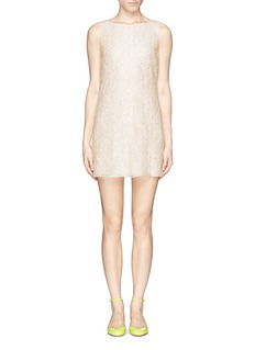 ALICE + OLIVIA Pearl embellish lace dress