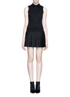 ALICE + OLIVIAPleat shirt dress