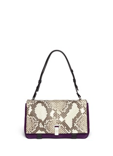 PROENZA SCHOULERPS Courier large suede and python leather bag