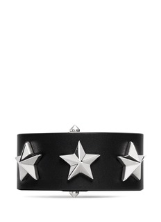 GIVENCHY Star stud triangle buckle leather bracelet