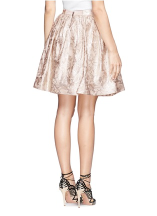 Back View - Click To Enlarge - alice + olivia - 'Pia' lurex floral jacquard pouf skirt